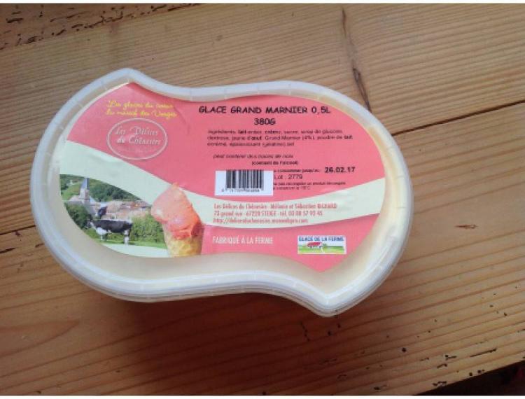 crème glacée grand marnier 760g 1L