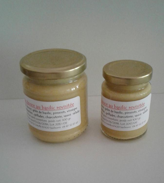 Moutarde douce au basilic 100 gr
