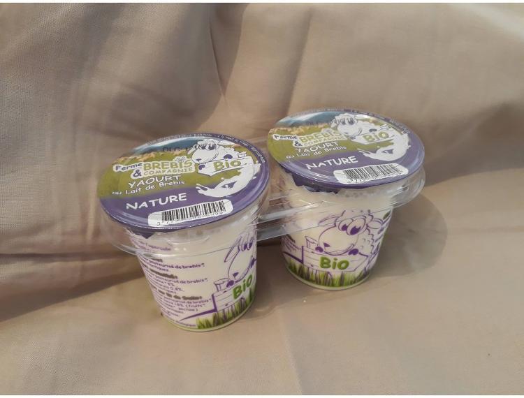 6 Yaourts bio NATURES au lait pasteurisé de brebis