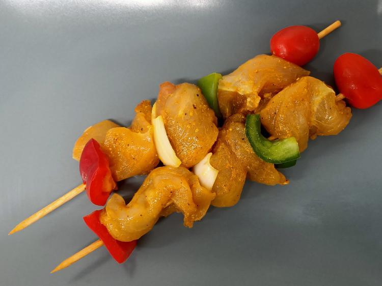 Brochette de poulet Curry