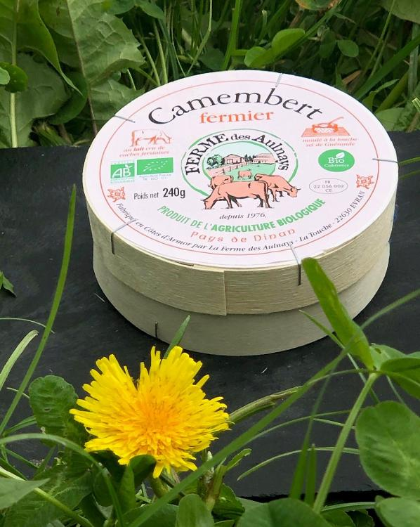 Camembert  fermier bio au lait cru