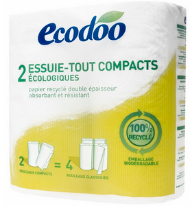 Essuie-tout compact recyclé - ECODOO - X 2