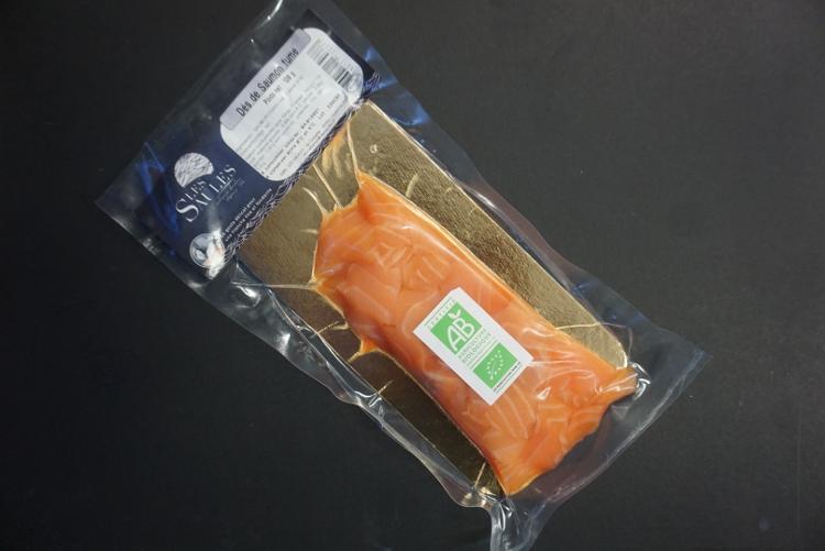 Dés de saumon fumé Biologique Irlande/Ecosse environ 100g