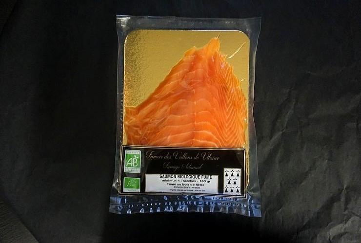 Plaquette 4/5 tranches de Saumon Fumé Biologique Irlande/Ecosse