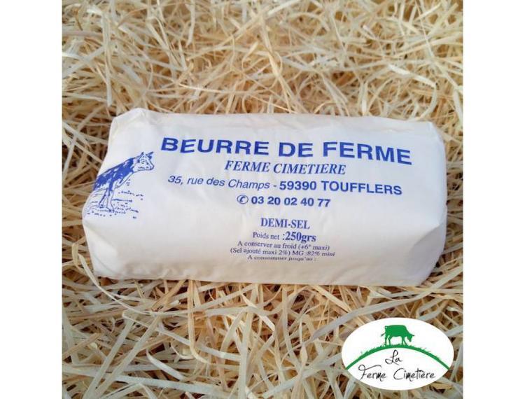 beurre demi-sel 250g