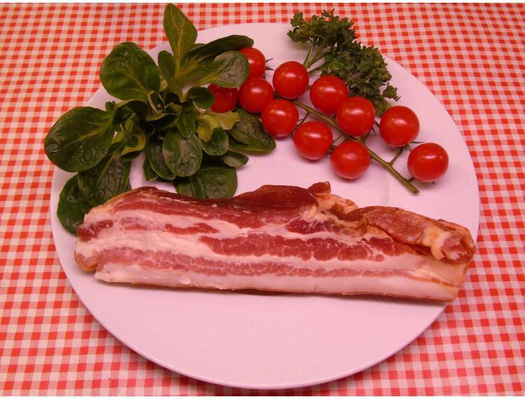 Poitrine de porc fumée-250g-la ferme des blanches terres