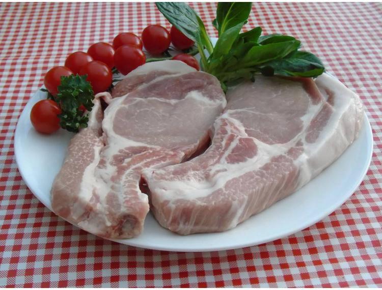 Côtes de porc première 400g par 2-la ferme des blanches terres