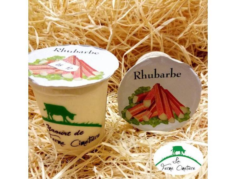 Yaourt brassé rhubarbe