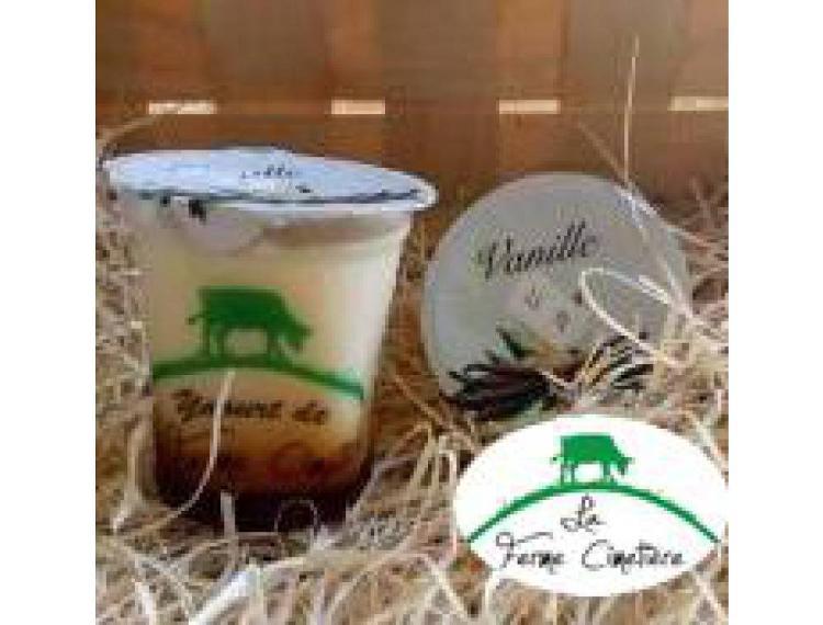 Crème dessert à la vanille sur lit de caramel