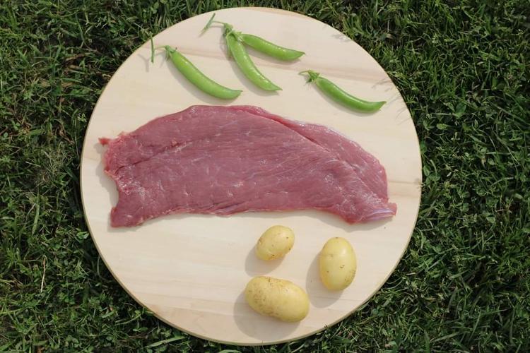 Escalope de veau élevé sous la mère (2 tranches) 500g