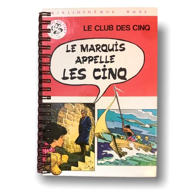 Carnet  Bibliothèque rose LE MARQUIS APPELLE LES CINQ